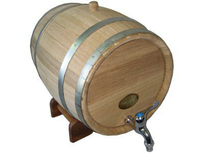 Oak barrel 3.96, 7.92 gall (15, 30 L)
