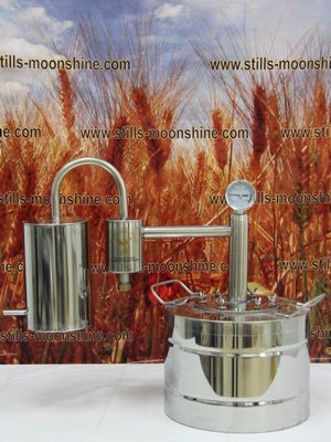 Moonshine distiller Home with still-head
