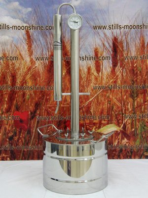 Stainless steel still with distillation tower Crystall
