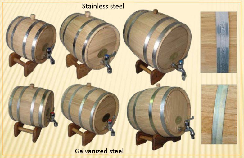 oak barrel galvanized stain